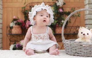cute little child wearing a dress